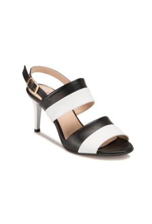 Butigo S807 Siyah Beyaz Kadın Ayakkabı 393