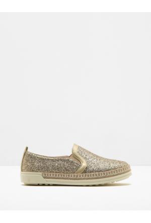Koton Kadın Sim Detaylı Ayakkabı Altın