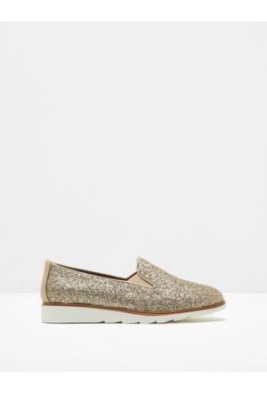 Koton Kadın Ayakkabı Altın