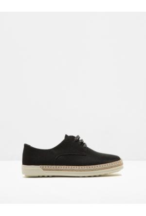 Koton Kadın Bağcıklı Ayakkabı Siyah
