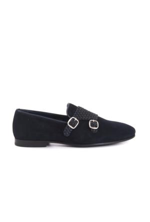 Mocassini Erkek Lacivert - Kahverengi Ayakkabı 151MCE002 9013