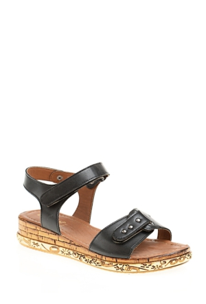 Derigo Kadın Siyah Sandalet
