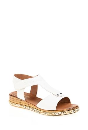 Derigo Kadın Beyaz Sandalet