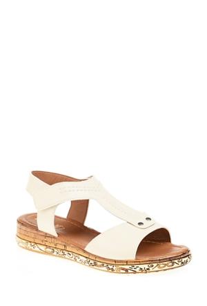 Derigo Kadın Bej Sandalet