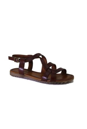 Despina Vandi Pndr 511-1 Günlük Kadın Deri Sandalet