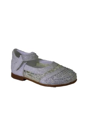 Minican B-10117 Günlük Kız Çocuk Taşlı Babet Ayakkabı