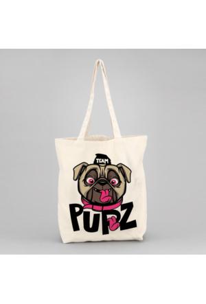 İf Dizayn Pupz Köpek Tasarım Bez Çanta