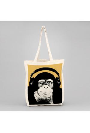 İf Dizayn Şempanze Tasarım Bez Çanta