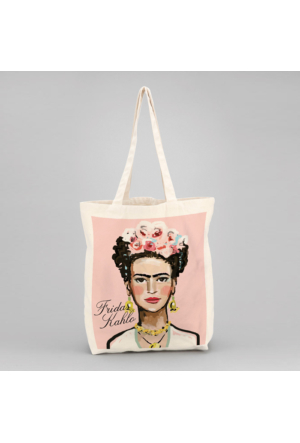 İf Dizayn Frida Kahlo Tasarım Bez Çanta