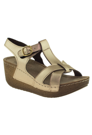 Jump 14797 Altın Kadın Sandalet