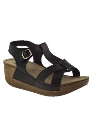 Jump 14797 Siyah Kadın Sandalet