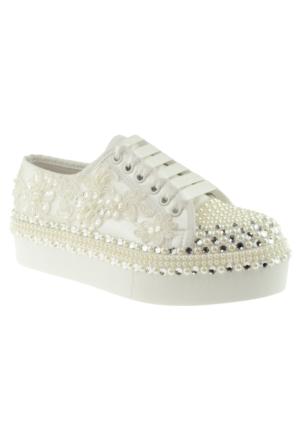 Isabel Taşli Gelin si Beyaz Kadın Ayakkabı