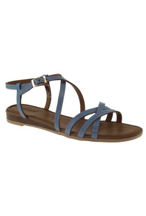 Greyder 51305 Zn Casual Mavi Kadın Sandalet