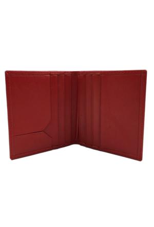 Bond 116-282 Kırmızı Gerçek Deri Kartlık