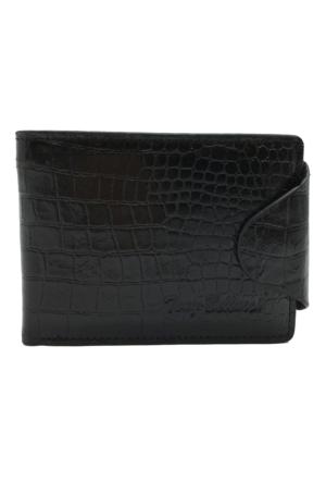 Tony Bellucci M20-945 Kroko Siyah Gerçek Deri Erkek Cüzdanı