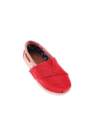 Toms Unisex Çocuk Kırmızı Espadril Ayakkabı