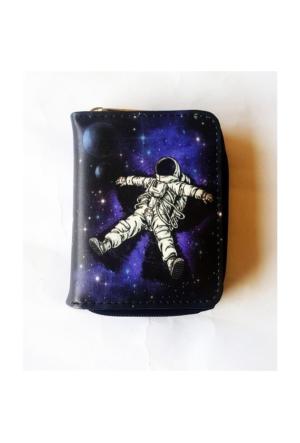 Köstebek Uçan Astronot Kısa Cüzdan
