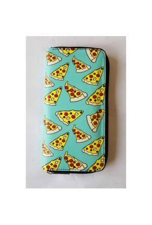 Köstebek Pizza Kolaj Turkuaz Uzun Cüzdan