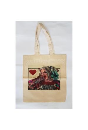 Köstebek Harley Quinn - Heart Bez Çanta