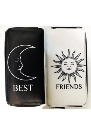 Köstebek Moon And Sun Best Friends Uzun Cüzdan