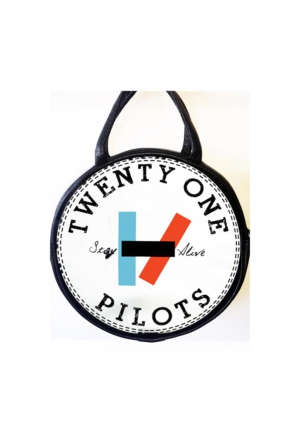 Köstebek Twenty One Pilots - Stay Alive Yuvarlak Postacı Çanta