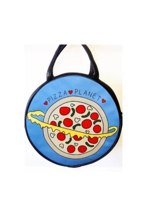 Köstebek Pizza Planet Yuvarlak Postacı Çanta