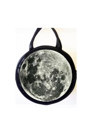 Köstebek Moon Postacı Yuvarlak Çanta