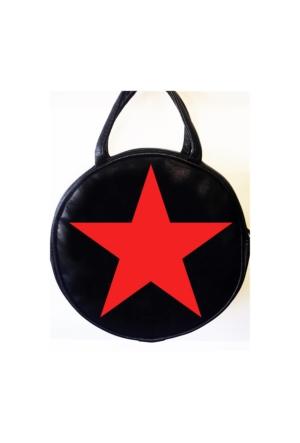 Köstebek Kızıl Yıldız Yuvarlak Postacı Çanta