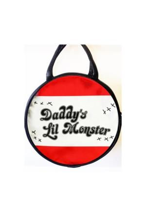 Köstebek Harley Quinn - Daddy'S Little Monster Yuvarlak Postacı Çanta