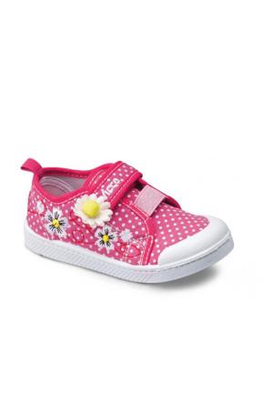 Vicco Cırtlı Kız Keten Ayakkabı Fuşya