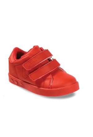 Vicco Çift Cırtlı Işıklı Spor Ayakkabı Kırmızı
