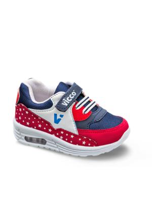 Vicco Bebe Işıklı Spor Ayakkabı Kırmızı