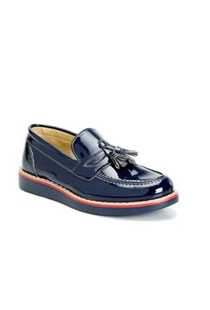 Vicco Püsküllü Rugan Ayakkabı Lacivert