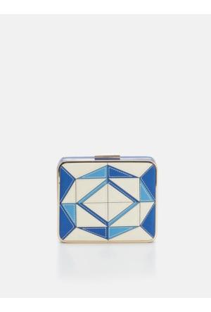 Roman Kadın Mavi Beyaz Çanta Y1681302089