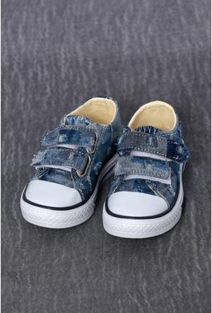 Altınbaş Shoe Desenli1 Bebek Kısa Keten Ayakkabı-14019