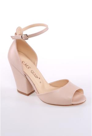 Sms Bej Kadın Ayakkabı-42112
