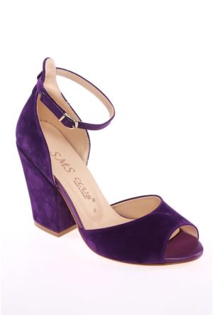 Sms Mor Nubuk Kadın Ayakkabı-42112
