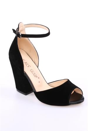 Sms Siyah Nubuk Kadın Ayakkabı-42112