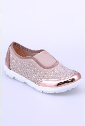 Doğal Ayakkabı Vizon Kadın Spor Ayakkabı-100