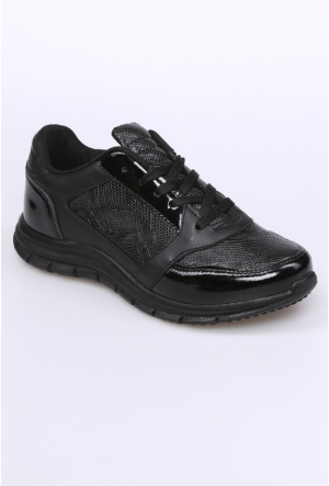 Kaya Dericilik Siyah Kadın Spor Ayakkabı-493
