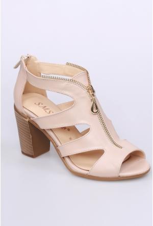 Sms Bej Kadın Ayakkabı-3433