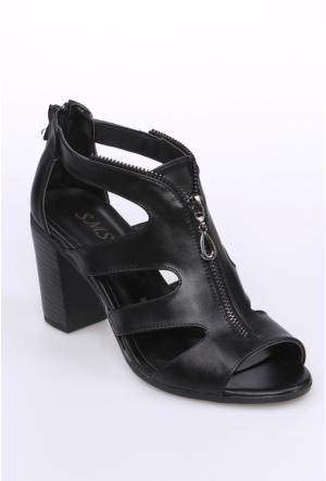 Sms Siyah Kadın Ayakkabı-3433