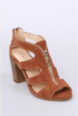 Sms Taba Süet Kadın Ayakkabı-3433