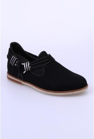 Swellsoft Siyah Petek Kadın Ayakkabı-822