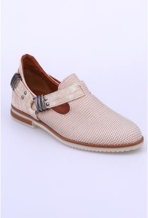 Swellsoft Krem Petek Kadın Ayakkabı-822