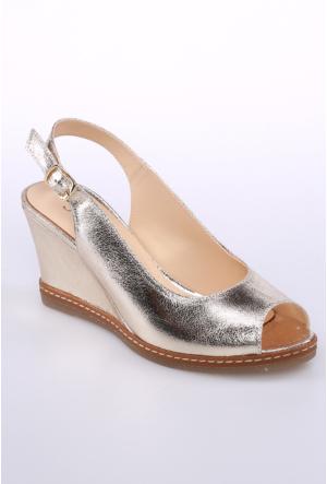 Sms Altın Kadın Sandalet-43114