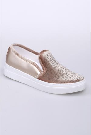 Celens Altın Taşlı Kadın Ayakkabı-302