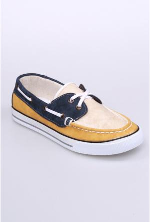 Yıldız Kundura Sarı/Krem Speri Kadın Ayakkabı