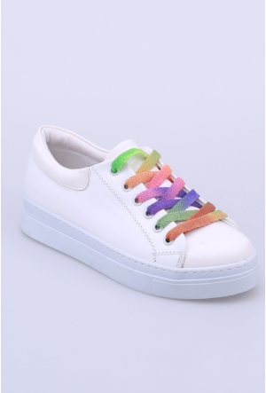 Oflaz Beyaz Kadın Ayakkabı-Y1529
