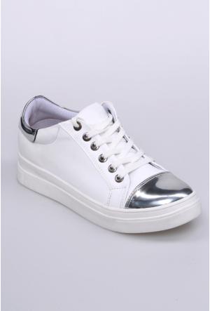 Zerrin Ayakkabı Beyaz Kadın Spor Ayakkabı-201460